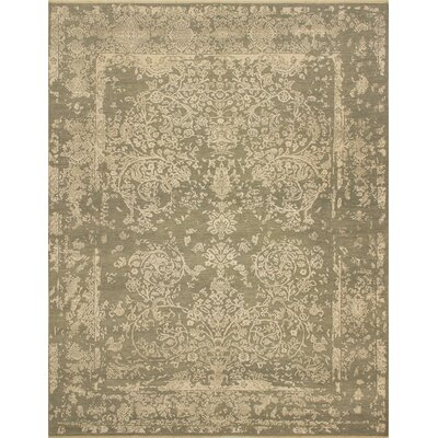 Dravis Hand Knotted Wool Beige Area Rug