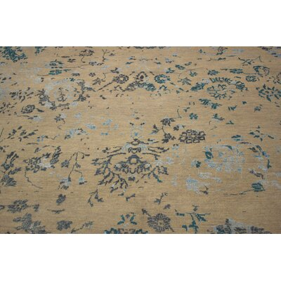 Dravis Hand Knotted Wool Brown Area Rug