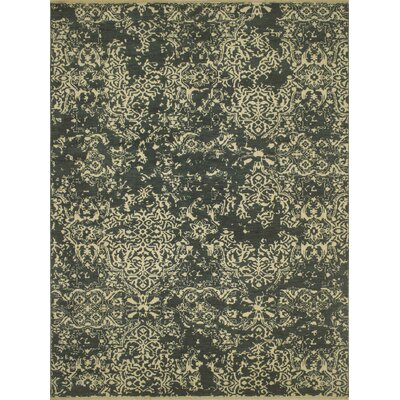 Dravis Hand Knotted Wool Beige/Green Area Rug