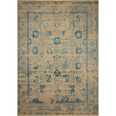 Dravis Hand Knotted Rectangle Wool Silver/Brown Area Rug