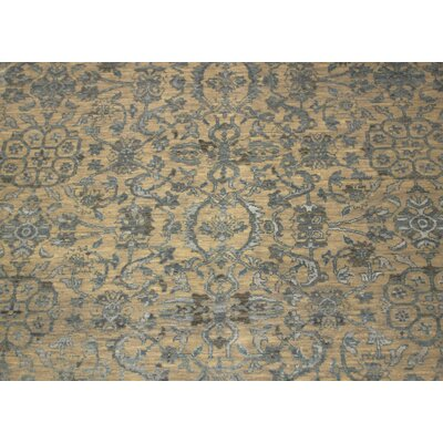 Dravis Hand Knotted Rectangle Wool Gray Area Rug