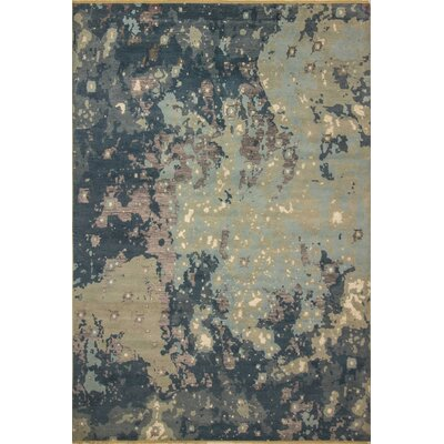 One-of-a-Kind Jackson Hand Knotted Wool Blue/Beige Area Rug