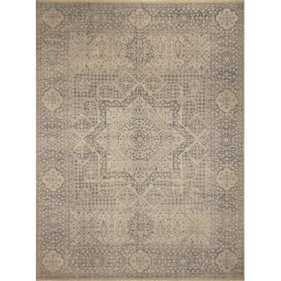 Francois Hand Knotted Wool Silver/Beige Area Rug