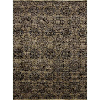 Francois Hand Knotted Wool Black Area Rug
