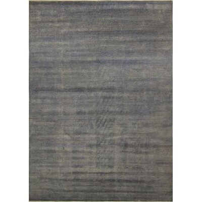 One-of-a-Kind Varya Hand Knotted Wool Gray Area Rug