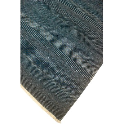 One-of-a-Kind Dreyer Hand Knotted Wool Blue Area Rug