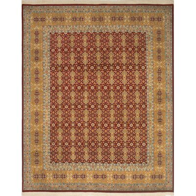 One-of-a-Kind Ringwood Hand Knotted Wool Red/Gold Area Rug