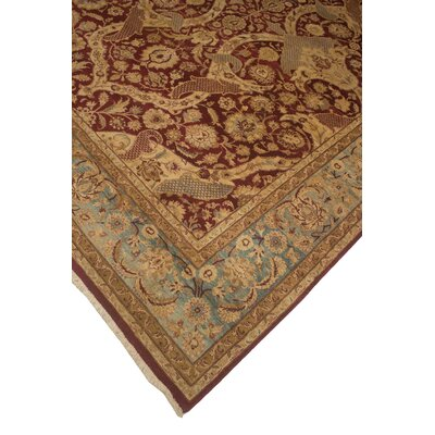 Rockmill Hand Knotted Wool Red Area Rug Rug Size: Rectangle 7'11
