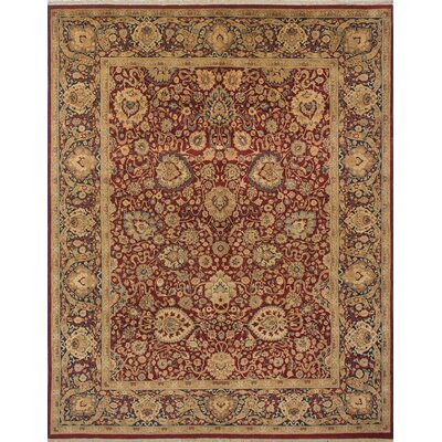 Rosemond Hand Knotted Wool Red/Blue Area Rug Rug Size: Rectangle 81 x 103