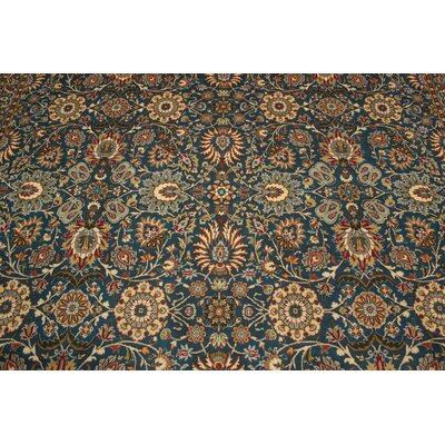 Rosenblum Hand Knotted Wool Green/Beige Area Rug