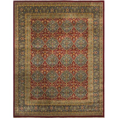 Sandia Turkish Hand Knotted Wool Red/Blue Area Rug Rug Size: Rectangle 82 x 102