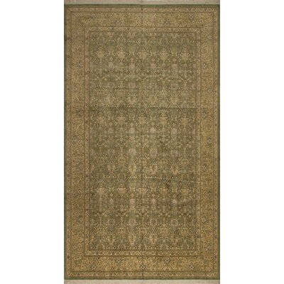 One-of-a-Kind Broadway Village Hand Knotted Wool Light Green Area Rug