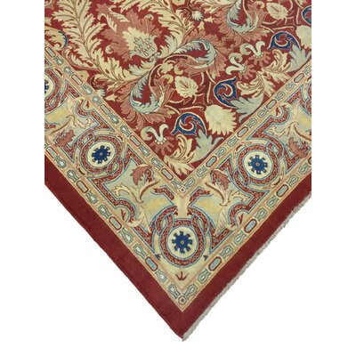 Brokaw Turkish Hand Knotted Wool Red/Beige Area Rug