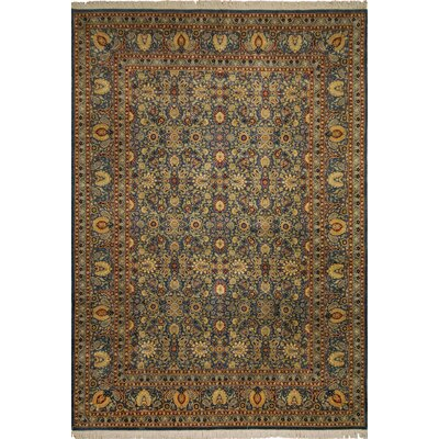 Samuels Hand Knotted Wool Blue/Teal Area Rug