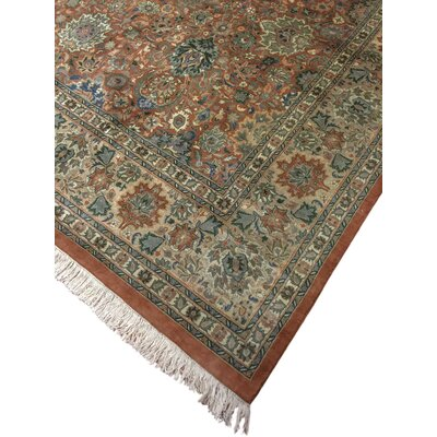 One-of-a-Kind Dolly Hand Knotted Wool Copper Area Rug