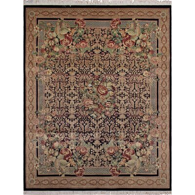 One-of-a-Kind Sierra Hand Knotted Wool Brown Area Rug