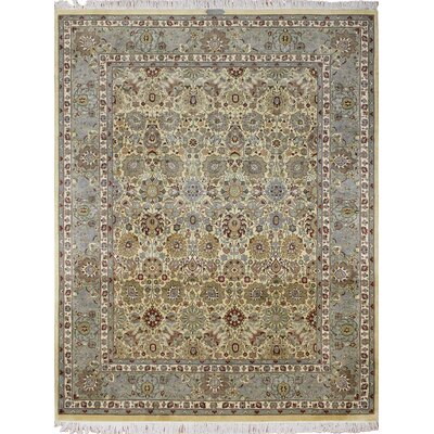 One-of-a-Kind Rodney Hand Knotted Wool Ivory/Gray Area Rug