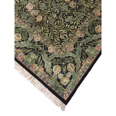 One-of-a-Kind Shirley Hand Knotted Wool Green Area Rug