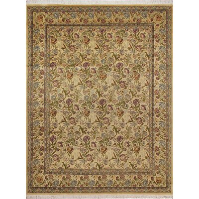 One-of-a-Kind Broder Hand Knotted Wool Ivory Area Rug