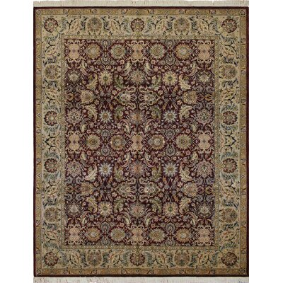 One-of-a-Kind Sande Hand Knotted Wool Aubergine Area Rug