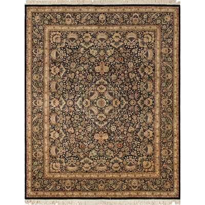 Robinette Hand Knotted Wool Blue/Beige Area Rug