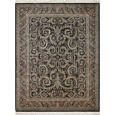 Rocher Hand Knotted Wool Black Area Rug