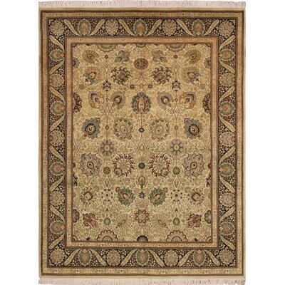 Rohrbaugh Hand Knotted Wool Ivory Area Rug