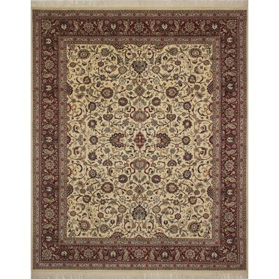 One-of-a-Kind Brogden Hand Knotted Wool Ivory/Brown Area Rug