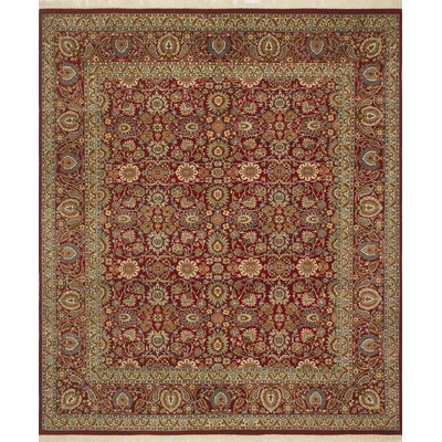 Saratoga Hand Knotted Wool Red Area Rug