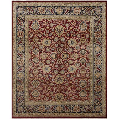 Rockdale Hand Knotted Wool Red Area Rug Rug Size: Rectangle 82 x 99