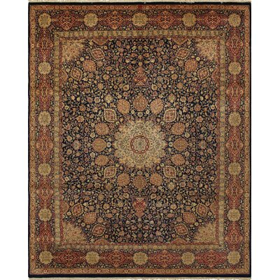 Rosado Hand Knotted Wool Brown Area Rug