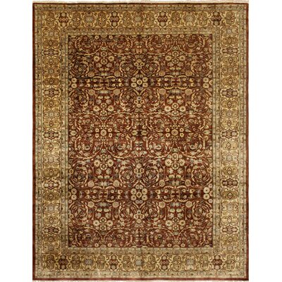 Rosemont Turkish Hand Knotted Wool Dark Red Area Rug Rug Size: Rectangle 711 x 106