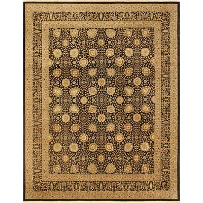 Broncho Turkish Hand Knotted Wool Chocolate/Beige Area Rug Rug Size: Rectangle 85 x 107