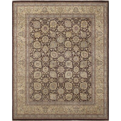 Roodhouse Turkish Hand Knotted Wool Beige/Brown Area Rug Rug Size: Rectangle 8' x 9'9