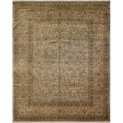 Roselle Turkish Hand Knotted Wool Beige Area Rug