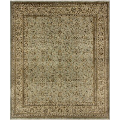 Salamanca Turkish Hand Knotted Wool Green/Brown Area Rug Rug Size: Rectangle 84 x 101