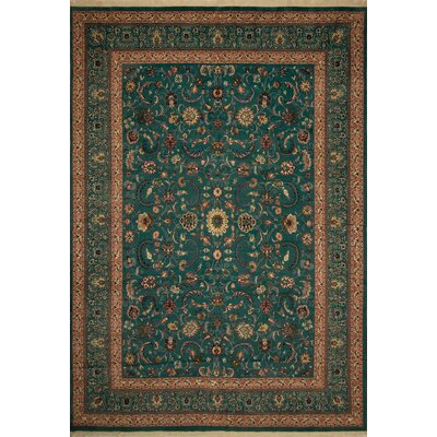 Broadway Village Hand Knotted Wool Green Area Rug