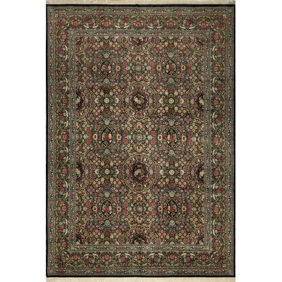 One-of-a-Kind Broadway Village Hand Knotted Rectangle Wool Green/Beige/Red Area Rug