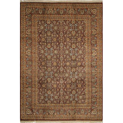 One-of-a-Kind Broadway Village Hand Knotted Red Area Rug