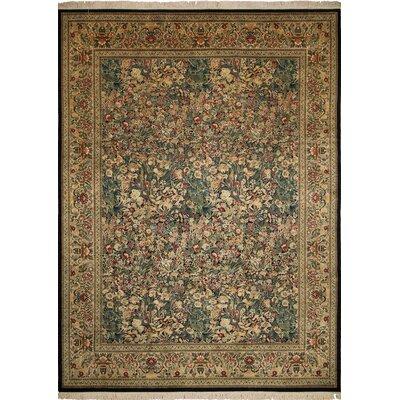 One-of-a-Kind Broadway Village Hand Knotted Wool Green/Beige Area Rug