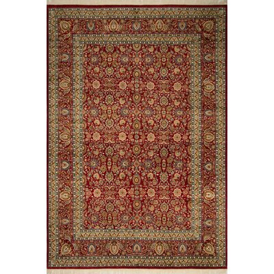 Rockefeller Hand Knotted Wool Red Area Rug