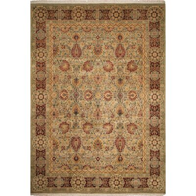 One-of-a-Kind Rosenbaum Hand Knotted Wool Ivory Area Rug
