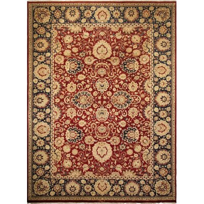 Broadlands Turkish Hand Knotted Wool Red/Beige Area Rug Rug Size: Rectangle 101 x 136