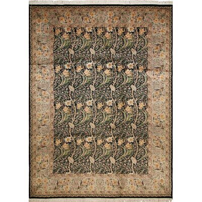 Sienna Hand Knotted Wool Chocolate/Beige Area Rug