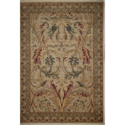 One-of-a-Kind Brockington Light Beige Area Rug