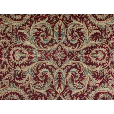 Brocton Hand Knotted Wool Red Area Rug