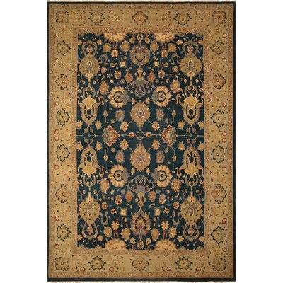 Broadbent Turkish Hand Knotted Wool Green/Beige Area Rug Rug Size: Rectangle 10 x 1411