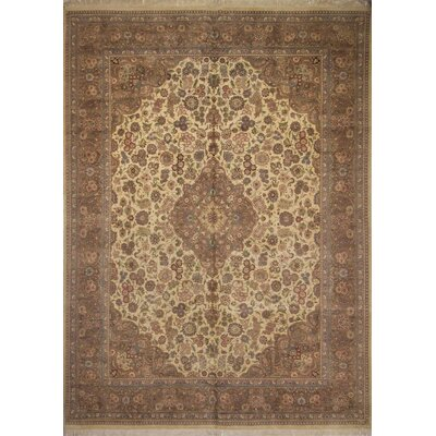 One-of-a-Kind Roanoke Hand Knotted Wool Ivory Area Rug