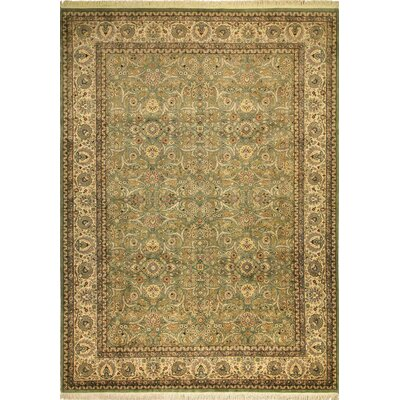 One-of-a-Kind Riverdale Hand Knotted Wool Light Green Area Rug