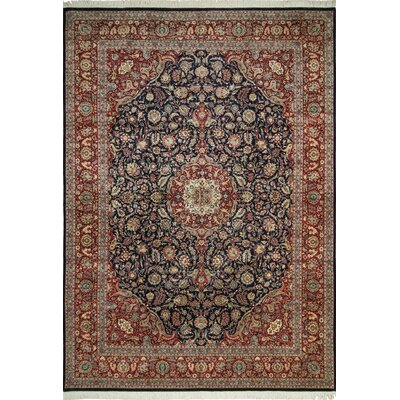 Roger Hand Knotted Wool Blue/Red Area Rug